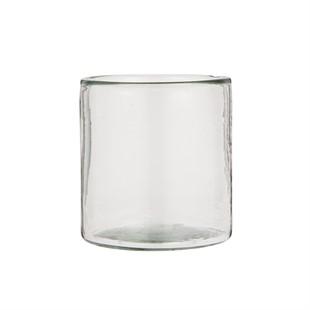 Hurricane Thick Handblown Glass 12cm
