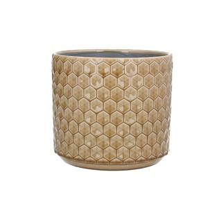 Sand Honeycomb Indoor Planter - Large