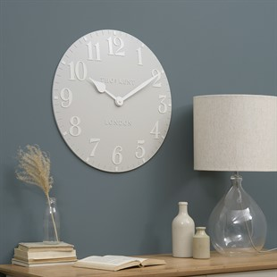 Arabic Wall Clock - Dove Grey