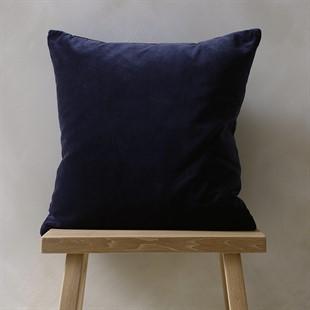 Cotton Velvet Cushion - Midnight Blue