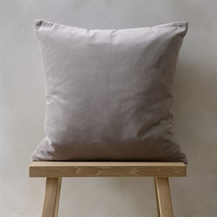 Cotton Velvet Cushion - Silver