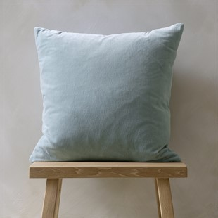 Cotton Velvet Cushion - Opal