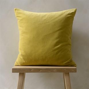 Cotton Velvet Cushion - Ochre