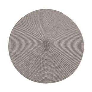 Circular Ribbed Placemat Storm Grey