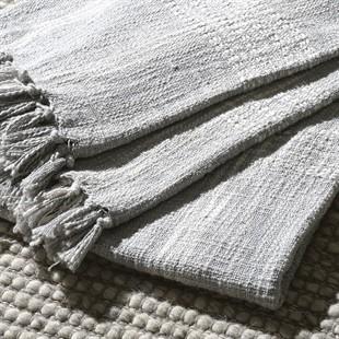 Handloom Check Throw - Grey