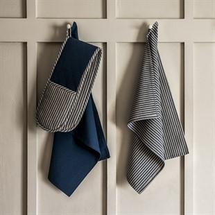 Hampton Stripe Set of Tea Towels