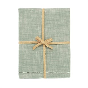 Chambray Tablecloth Moss Green 130x230cm