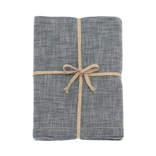 Chambray Tablecloth Flint Blue 130x180cm