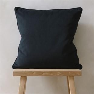 Navy Simple Velvet Cushion 50x50cm