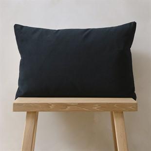 Navy Simple Velvet Cushion 30x50cm