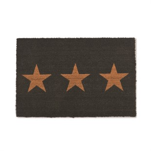 Coir Small Doormat with 3 Stars