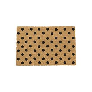 Dots Coir Doormat 60x40cm