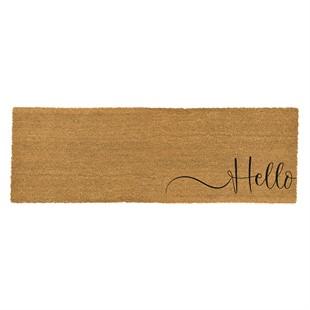 Hello Double Coir Doormat 120x40cm