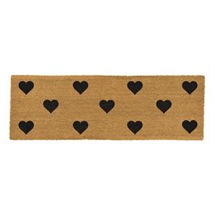 Hearts Double Coir Doormat 120x40cm
