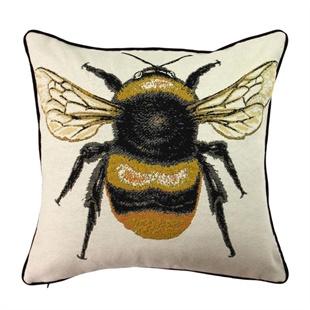 Large Bee Motif Cushion