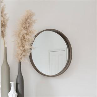 Mason Round Wall Mirror - Natural Wood