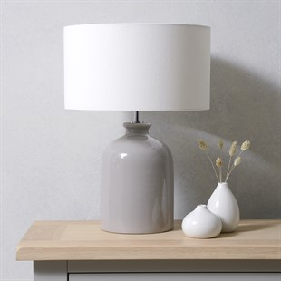 Dexter Dove Grey Table Lamp