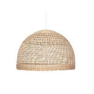 Seagrass Wide Dome Pendant