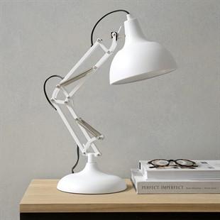 Matt White Task Table Lamp