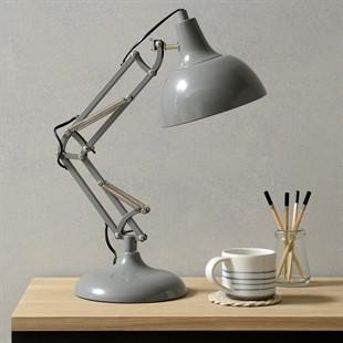 Grey Metal Task Table Lamp