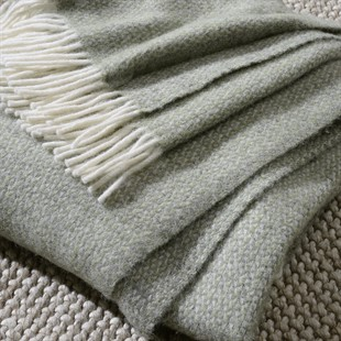 Illusion Throw - Green and Grey
