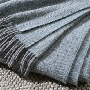 Illusion Pure New Wool Throw - Spearmint and Grey