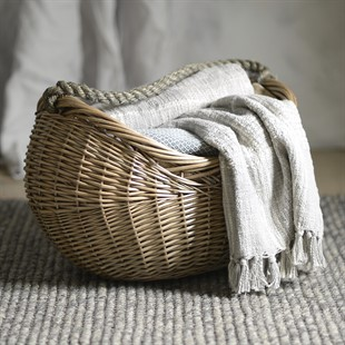 Rope Handled Carrying Basket