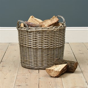 Extra Large Lined Wicker Basket
