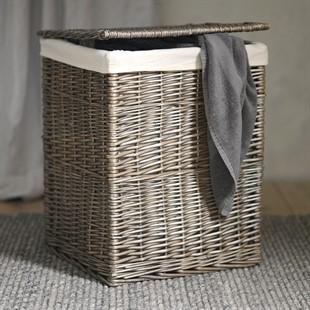 Large Antique Wash Laundry Basket