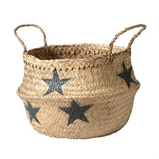 Grey Star Seagrass Basket