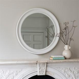 Chantilly Warm White Round Mirror