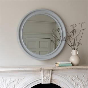 Light Grey Round Mirror