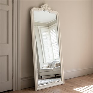 Isabelle Leaner Mirror - White