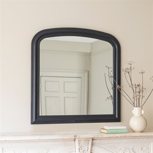 Chantilly Dusky Black Overmantel Mirror