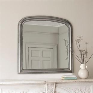Silver Leaf Overmantel Mirror
