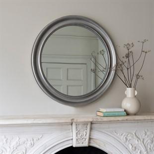 Silver Leaf round mirror