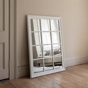 Brandon distressed mirror - Soft white