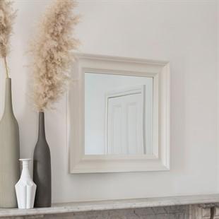 Chantilly Warm White Square Mirror