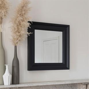 Chantilly Dusky Black Square Mirror