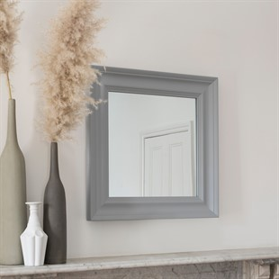 Light Grey Square Mirror