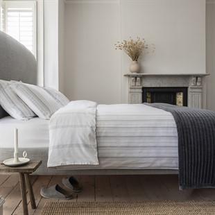Broadwell Stripe Grey King Duvet Cover