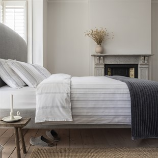 Broadwell Stripe Grey Superking Duvet Cover