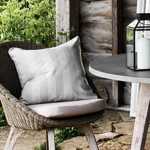 Pebble Wide Stripe Outdoor Cushion 50x50cm