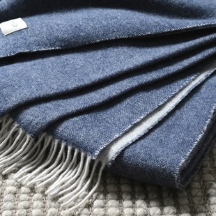 Throw With Cashmere Midnight Blue