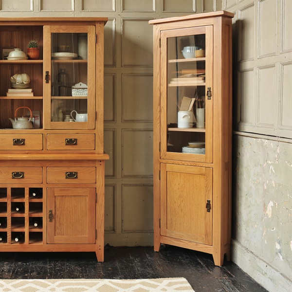 Kitchen Cabinets Oakland Ca: Oakland Corner Display Cabinet (C282) With Free Delivery