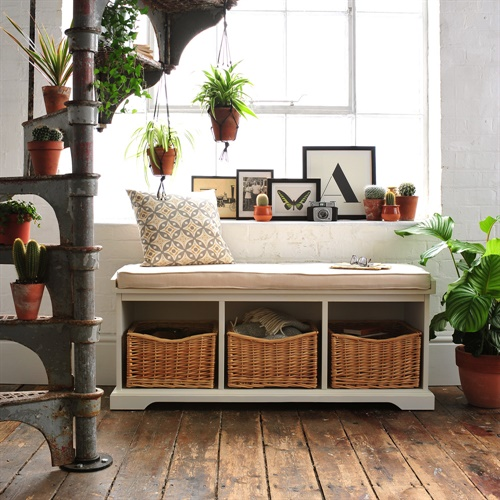 Farmhouse Painted Storage Bench