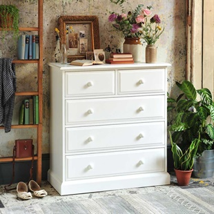 Burford Warm White 2 Over 3 Chest of Drawers