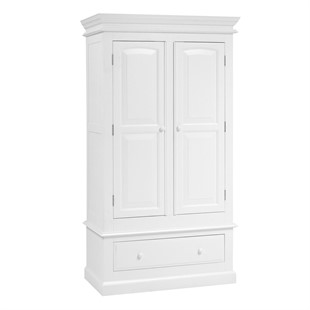 Burford Soft White Double Wardrobe with Drawer