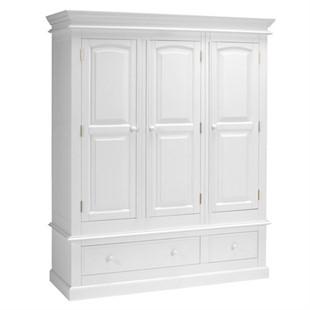 Burford Soft White Triple Wardrobe