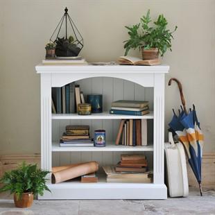 Burford Warm White Small Bookcase 3 Shelves